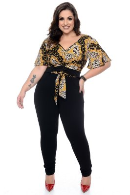 Blusa Cropped Plus Size Calleya