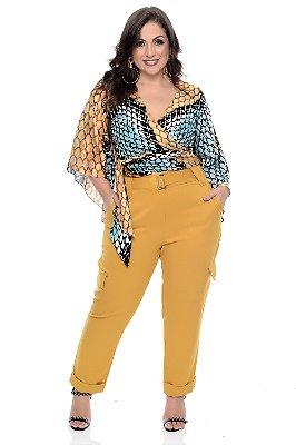 Blusa Cropped Plus Size Suelena