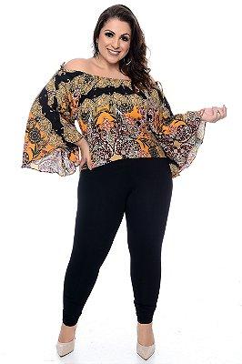 Blusa Ciganinha Plus Size Solayne