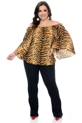 Blusa Ciganinha Plus Size Edithe