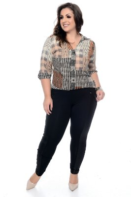 Camisa Plus Size Massari