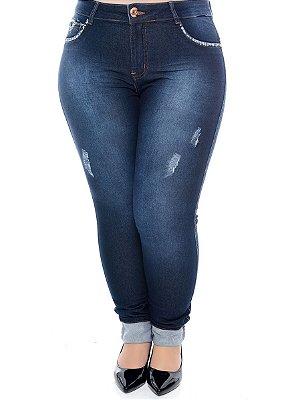 Calça Skinny Jeans Plus Size Karry