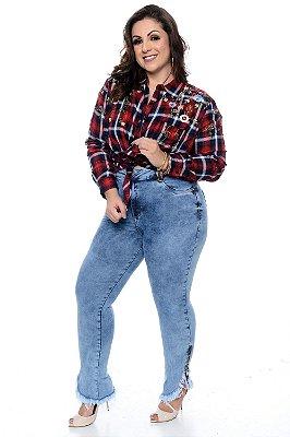Calça Cigarrete Jeans Plus Size Ariel