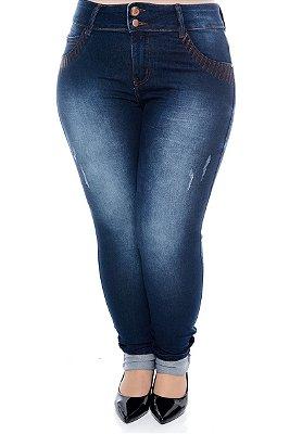 Calça Skinny Jeans Plus Size Ashe