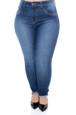 Calça Skinny Jeans Plus Size Darla