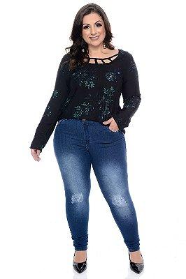 Calça Skinny Jeans Plus Size Minerva