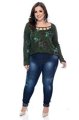 Calça Skinny Jeans Plus Size Analuna