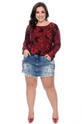 Shorts Saia Jeans Plus Size Ellis