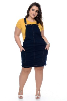 Salopete Jeans Plus Size Gladys