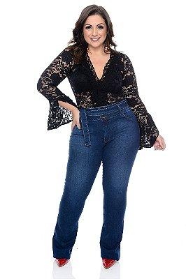 Calça Flare Jeans Plus Size Paloma