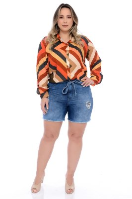 Shorts Jeans Plus Size Tonelli