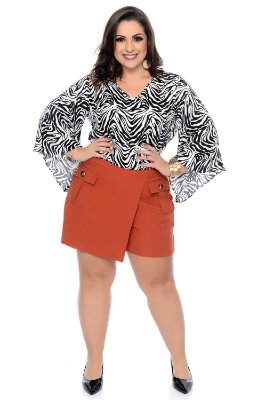 Blusa Cropped Plus Size Susan