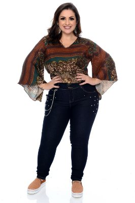 Blusa Cropped Plus Size Kattie
