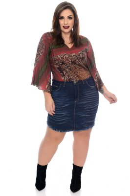 Blusa Cropped Plus Size Agnez
