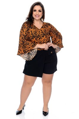 f75ad144e5 Blusa Cropped Plus Size Cathy