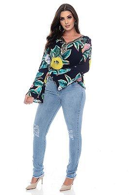 Calça Cigarrete Jeans Plus Size Ruzima