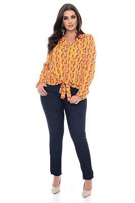Calça Cigarrete Jeans Plus Size Elysane