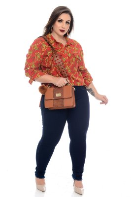 Calça Cigarrete Jeans Plus Size Megha