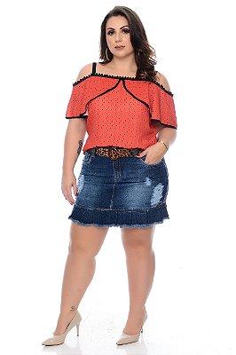 Saia Jeans Plus Size Dhelina