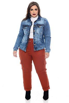 Jaqueta Jeans Plus Size Henda