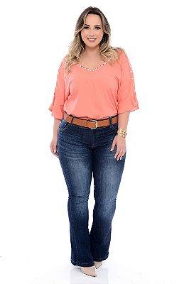 Calça Jeans Flare Plus Size Zione