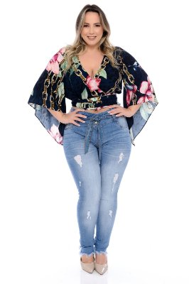 Blusa Cropped Plus Size Leiva