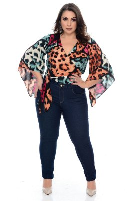Blusa Cropped Plus Size Yana