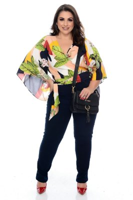 Blusa Cropped Plus Size Neila