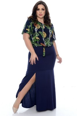 Blusa Cropped Plus Size Cleony