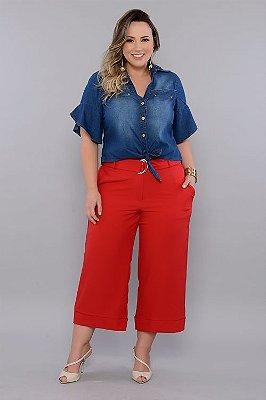 Camisa Jeans Plus Size Bradley