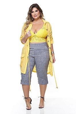 Calça Cropped Plus Size Alecrim