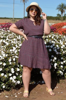 Vestido Plus Size Miosotis