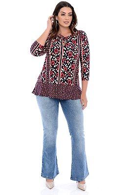 Blusa Plus Size Glicinia