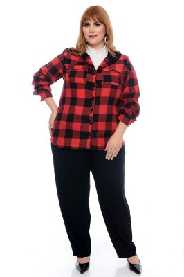 Camisa Xadrez Plus Size Marisha