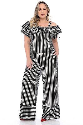 Calça Pantalona Plus Size Celma