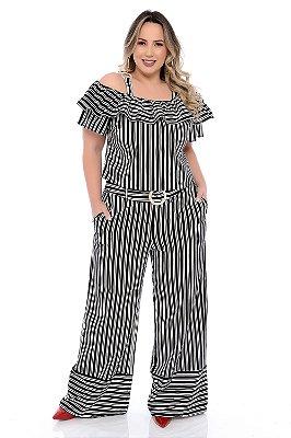 Blusa Cropped Plus Size Winnya