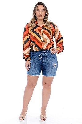 Camisa Plus Size Lisianto