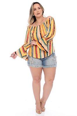 Blusa Ciganinha Plus Size Ellah