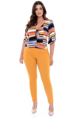 Blusa Cropped Plus Size Tulipa
