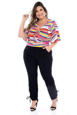 Blusa Cropped Plus Size Cartamo