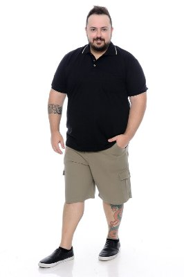 Polo Masculina Plus Size Enrico