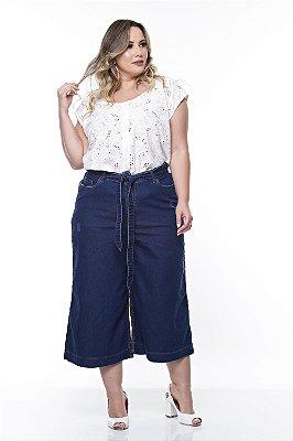 Calça Pantacourt Jeans Plus Size Mykayla
