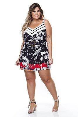 Conjunto Shorts Saia Plus Size Keanne