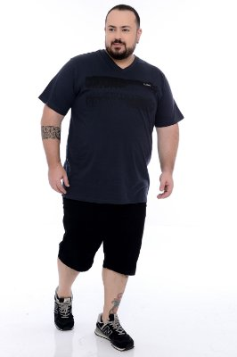 Camiseta Gola V Plus Size Damon