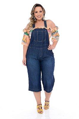 Jardineira Jeans Plus Size Kaela