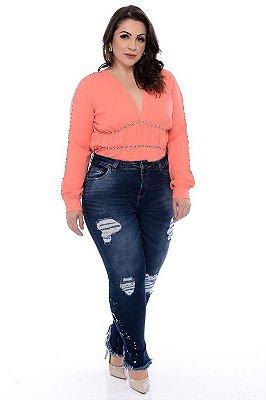 Calça Jeans Skinny Plus Size Kiarah