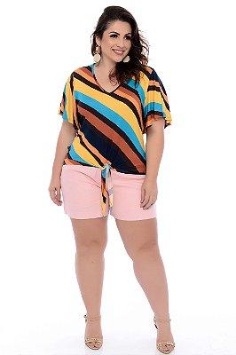 Shorts Linho Plus Size Leni