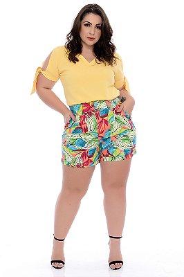 Shorts Linho Plus Size Luella