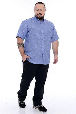 Camisa Social Manga Curta Plus Size Jader