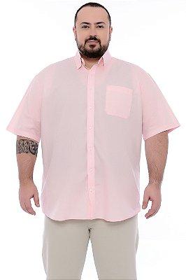 Camisa Social Manga Curta Plus Size Antenor